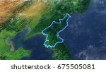map of north korea elements of... | Shutterstock . vector #675505081