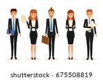 business people team work... | Shutterstock .eps vector #675508819