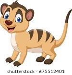 Cartoon Happy Meerkat