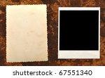 vintage photo frames set on old ... | Shutterstock . vector #67551340