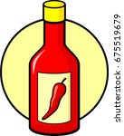 hot sauce bottle | Shutterstock .eps vector #675519679