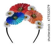 Headband Decorated With...