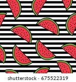 watermelon summer seamless... | Shutterstock .eps vector #675522319