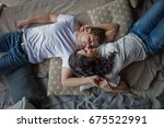 portrait of a romantic coup | Shutterstock . vector #675522991