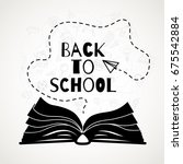 back to school banner with open ... | Shutterstock .eps vector #675542884