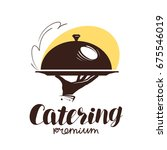 catering service logo. icon or... | Shutterstock .eps vector #675546019