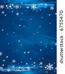 blue grunge christmas...   Shutterstock .eps vector #6755470