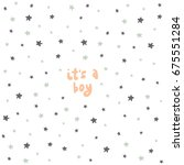 vector lettering with stars.... | Shutterstock .eps vector #675551284
