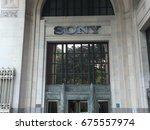 new york   july 2017  sony... | Shutterstock . vector #675557974