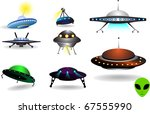 space collection of flying... | Shutterstock .eps vector #67555990