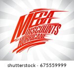 mega discounts hurricane vector ... | Shutterstock .eps vector #675559999