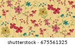 seamless floral pattern in... | Shutterstock .eps vector #675561325