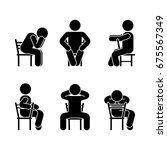 man people various sitting... | Shutterstock .eps vector #675567349
