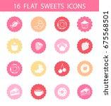 vector set of modern flat icons ... | Shutterstock .eps vector #675568501