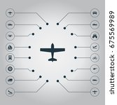 vector illustration set of... | Shutterstock .eps vector #675569989