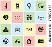 set of 16 editable passion... | Shutterstock .eps vector #675571699
