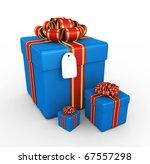 gift boxes   3d render | Shutterstock . vector #67557298