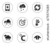 set of 9 editable air icons....