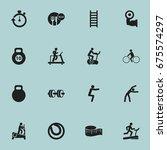 set of 16 editable sport icons. ...