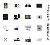 set of 16 editable tech icons....