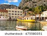 omis  croatia   august 17  2016 ... | Shutterstock . vector #675580351