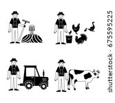 black farm and agriculture... | Shutterstock .eps vector #675595225