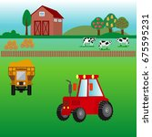 agriculture and farming.... | Shutterstock .eps vector #675595231