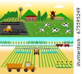 agriculture and farming.... | Shutterstock .eps vector #675595249