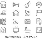 accommodation amenities icon set | Shutterstock .eps vector #67559737