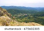 liguria mountain range  val d... | Shutterstock . vector #675602305