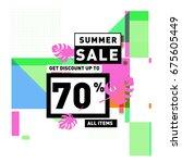 summer sale beautiful web... | Shutterstock .eps vector #675605449