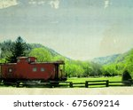 Little Red Caboose In Hot...