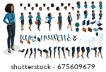 large isometric set of hand... | Shutterstock .eps vector #675609679