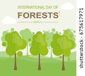 international day of forests ... | Shutterstock .eps vector #675617971