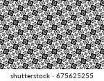 ornament with elements of black ... | Shutterstock . vector #675625255