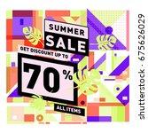 summer sale beautiful web... | Shutterstock .eps vector #675626029