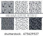 vector seamless pattern set....