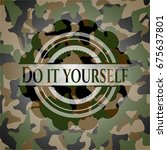 do it yourself on camouflage... | Shutterstock .eps vector #675637801