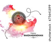 vector abstract for raksha... | Shutterstock .eps vector #675641899