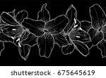 black and white seamless... | Shutterstock . vector #675645619