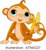 illustration of funny monkey... | Shutterstock .eps vector #67565227