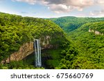 waterfall in caracol park in... | Shutterstock . vector #675660769