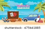 summer holiday vacation concept ... | Shutterstock .eps vector #675661885