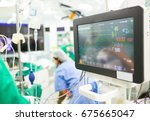 monitor heart rate for surgery... | Shutterstock . vector #675665047