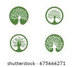 logos of green leaf ecology... | Shutterstock .eps vector #675666271