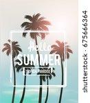 tropical summer background | Shutterstock .eps vector #675666364