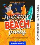 beach party flyer | Shutterstock .eps vector #675673381