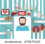human organ for transplantation ... | Shutterstock .eps vector #675674101