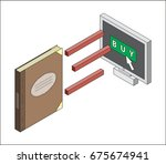 book purchase online ordering... | Shutterstock .eps vector #675674941