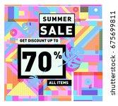 summer sale beautiful web... | Shutterstock .eps vector #675699811